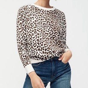 JCrew Leopard Print Sweatshirt NWT